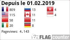 Visiteurs de Breizh-kap, le forum de france-webcams-kap.fr depuis le 01.02.2019 avec flagcounter.com